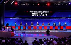 ABC News Democratic Debate Broadcast Set Design Gallery David Muir, George Stephanopoulos, Tv Set Design, Us Election, New Set, Abc News, Over The Years, Gallery, Roof Rack