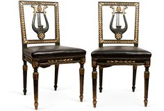 French Empire Empire Furniture, European Furniture, Antique Furniture, Side Chairs, Dining Chairs, Interior Architecture, Interior Design, French Empire, Empire Style