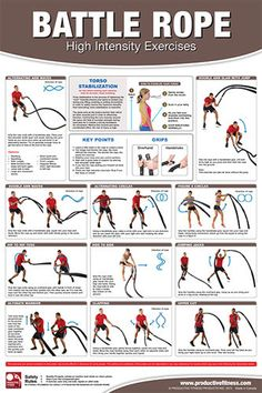 Battle Rope High Intensity Workout Professional Fitness Gym Wall Chart Poster | eBay
