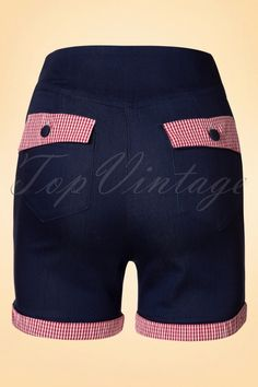Banned Blueberry Hills Red Gingham Shorts 14692 1