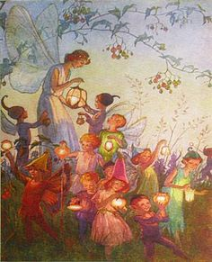 MARGARET TARRANT  I love her fairies. They are joyous and sweet and beautiful, tiny and magical just like the ones I knew as a child.
