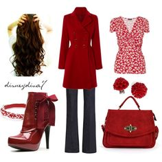 Deep Red, created by disneydiva7 on Polyvore
