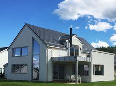 Flat takstein for moderne arkitektur - Monier Home Fashion, Garage, Flats, Mansions, House Styles, Home Decor, Modern, Alternative, Carport Garage