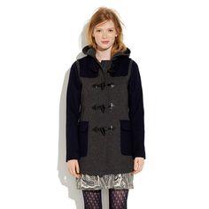 Colorblock Toggle Coat
