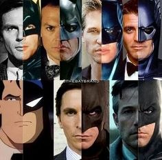 Only Affleck had the right mouth for Batman... the rest had weird lips. (except the animated guy)