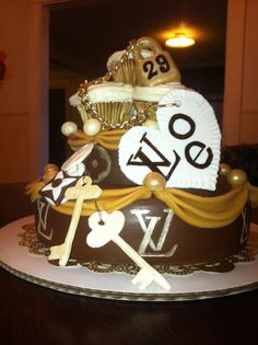 Louis Vuitton Cake I Made For My Friends 29th Birthday Cakes Women