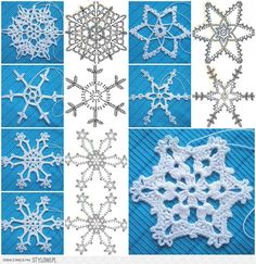 Wonderful DIY Crochet Snowflakes With Pattern Crochet Snowflake Pattern, Crochet Stars, Crochet Snowflakes, Thread Crochet, Crochet Motif, Diy Crochet, Crochet Crafts, Crochet Doilies, Crochet Flowers