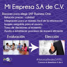 toma de decisión, muestra las razones por las cuales se deberá elegir SAP Business One como ERP, entre otras muchas.