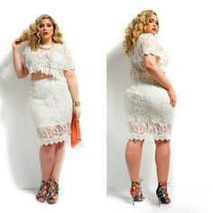 (N♡) http://monifc.com/what-s-new/gissel-scallop-lace-plus-size-crop-top-ivory.html