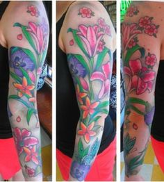 My floral sleeve tattoo