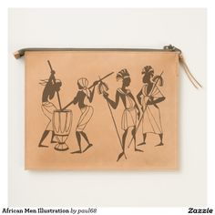 African Men Illustration Travel Pouch