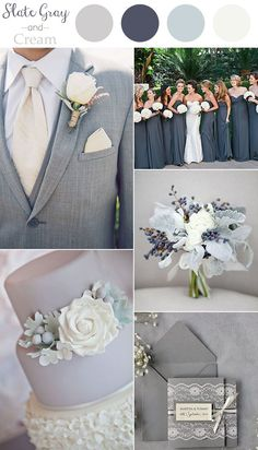 2016 Trending Slate Gray And Cream Neutral Wedding Color Ideas Stunning Grey Colors