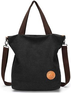 Myhozee Canvas Handbag shoulder Bag Women-Vintage Hobo Top Handle Shopping Cr...