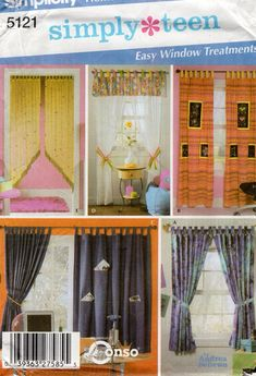 Simplicity US1176OS Caf/é Curtains and Full Length Curtains Sewing Pattern One Size Only