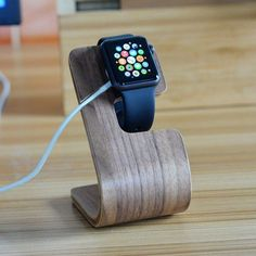 Bent Polywood iWatch Charger Holder. Made of polywood.