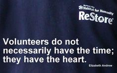 Volunteers have the heart.