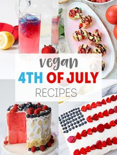 Let's get this patriotic party started! I've got a bunch of vegan 4th of July recipes for you - appetizers, drinks, side dishes, main dishes, and desserts. Vegan 4th of July Recipes Celebrate this independence