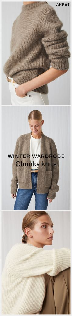 1264786f318 Explore ARKET's chunkier knits in sandy tones for the upcoming season.  #ARKET Simple Casual