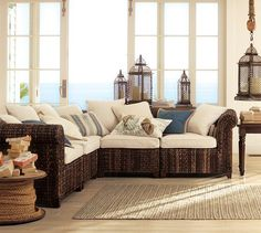 Seagrass 5-Piece Sectional- this may be too casual but I like that you could change the cushions and/or wash the covers.