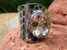 FREE SIZE HANDCRAFTED 925 SILVER RING CUT CITRINE SILVERANDSOUL JEWELLERY