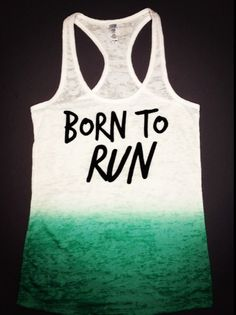 Born To Run Tank - cute website for running clothes