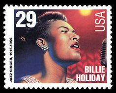 Jazz singer Billie Holiday sang with Count Basie and played New York venues Carnegie Hall and Apollo Theater.