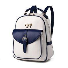 Elegant Colorblock PU Leather Ladies Backpack 10 Colors. Style PreppyLaptop  BackpackTravel BackpackTravel BagsLadies BackpackSchool ... 6ffea4ce1a