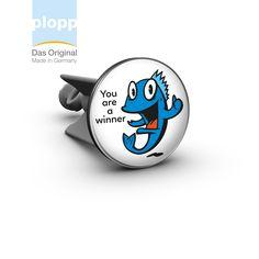"plopp Waschbeckenstöpsel ""Fisch – you are a winner"" #Bad #plopp #bath #bathroom #Badezimmer #Geschenkidee #Waschbeckenstöpsel #gift idea"