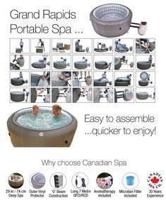 One of the deepest portable spas. easy to assemble.easy to transport.quicker to enjoy!