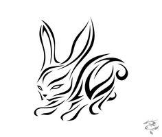 Chinese Zodiac Tattoo Rabbit by visuallyours.deviantart.com