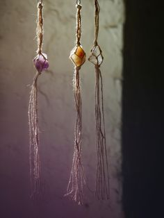 Hanging Crystals | Decorate any room with the power of healing. American made hanging crystals can be hung easily. Bead accents. *By Free People x Catherine