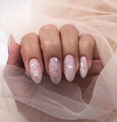 Make an original manicure for Valentine's Day - My Nails Blush Nails, Minimalist Nails, Nail Swag, Hair And Nails, My Nails, Fire Nails, Oval Nails, Homecoming Nails, Dream Nails