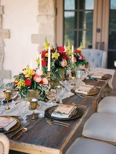 Romantic Italian inspired wedding tablescape