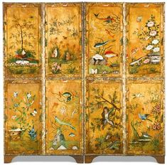 4 Panel Room Divider, Art Nouveau, Art Deco, Folding Screens, Cemetery Art, Victorian Dolls, Vintage Bottles, Dom, Chinoiserie