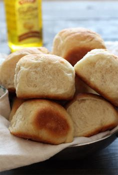 Vegan Butter Rolls by Handle the Heat using STAR Butter flavored Olive Oil.  These are so tender, fluffy, and buttery, you won't miss the dairy or eggs at all! Everyone will love these and no one will know they're vegan.