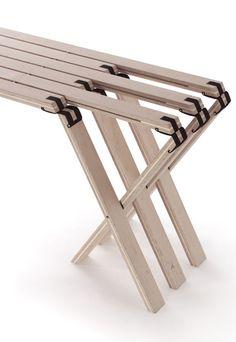 Barkschat, Blumel and Arnold's 63 Grad Fold-Flat Bench, detail