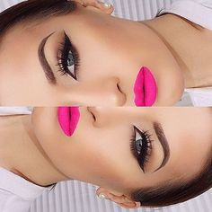Love this look. For a similar lip color check out ILIA lipstick in neon angel.