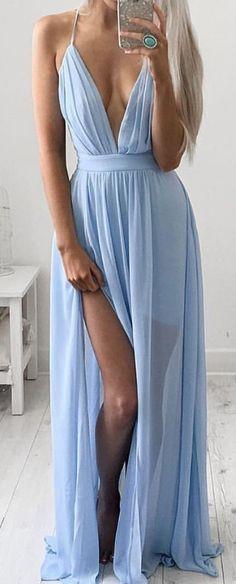 #summer #outfits / light blue