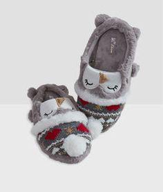 Chaussons Hiver chaud Accueil Chaussures indoor Enfants Peluche Cartoon Fox Bear Garçons Filles