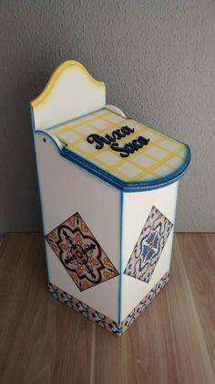 Puxa saco decoupagem de azulejos portugueses. Lindo !!!!