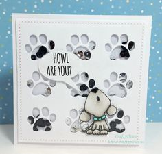Puppy Shaker Card created using Paper Smooches - Paw Print Pet Sympathy Cards, Paper Smooches, Cricut Cards, Shaker Cards, Get Well Cards, Animal Cards, Kids Cards, Baby Cards, Cute Cards