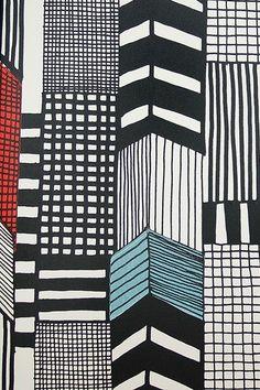 Marimekko Ruutuka - Wallpaper Ideas & Designs - Living Room & Bedroom (houseandgarden.co.uk)