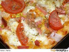 Pizza Quiche, 20 Min, Hawaiian Pizza, Mozzarella, Mashed Potatoes, Hamburger, Ethnic Recipes, Food, Cakes