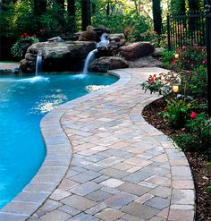 Pool Paver Ideas paver pool deck brown pavers paving stonescapes design hanover Pavers Around A Pool More Expensive Than Poured Concrete But No Cracking Patios Walkways Pinterest Concrete