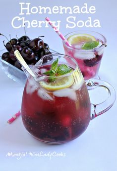 Homemade Cherry Soda is easier to make than you think. The kids will ...