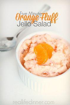 orange fluff jello salad can be made with cherry flavor jello