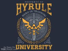 Shop Hyrule University zelda t-shirts designed by TeeNinja as well as other zelda merchandise at TeePublic. The Legend Of Zelda, Les Themes, Video Game Art, Video Games, Cool T Shirts, Geek Shirts, Nerdy, Anime, University
