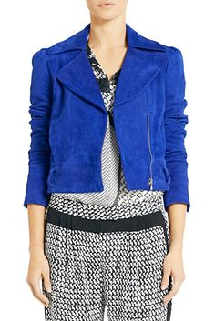 DVF | Get a head start on Fall's moto jacket trend with the Kazara.http://on.dvf.com/1ap4HbS