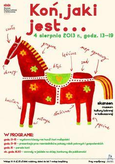 """Muzealne plakaty na 24. Międzynarodowym Biennale Plakatu. """"Koń, jaki jest..."""" wśród prezentowanych na wystawie w Wilanowie."""
