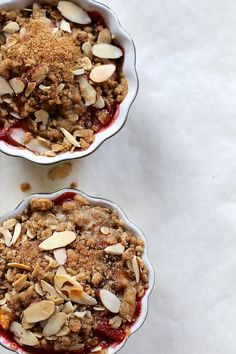 Peach and Strawberry Weeknight Cobbler for two